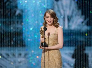 THE OSCARS(r) - The 89th Oscars(r) broadcasts live on Oscar(r) SUNDAY, FEBRUARY 26, 2017, on the ABC Television Network. (Eddy Chen/ABC via Getty Images) EMMA STONE